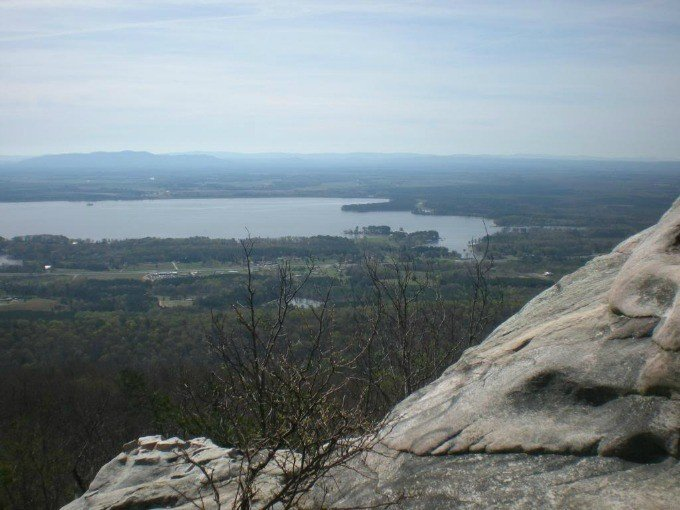 The view from the top of Cherokee Rock Village in Alabama.