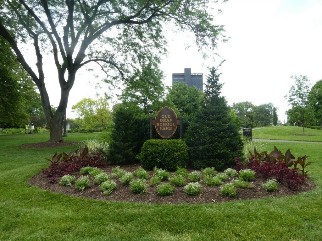 Topiary Park with Sign