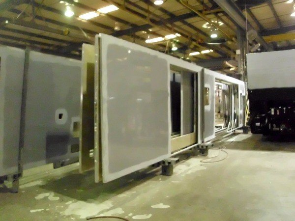Putting the walls up on a Tiffin Motorhome