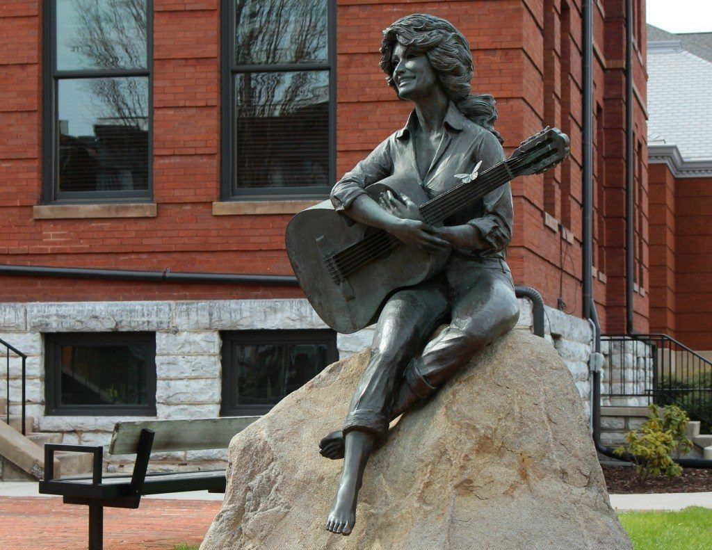 Dolly Parton Statue Roadside Attraction in Sevierville, Tennessee.