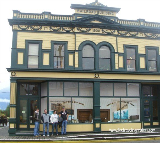 Outside the Klondike Goldrush Museum