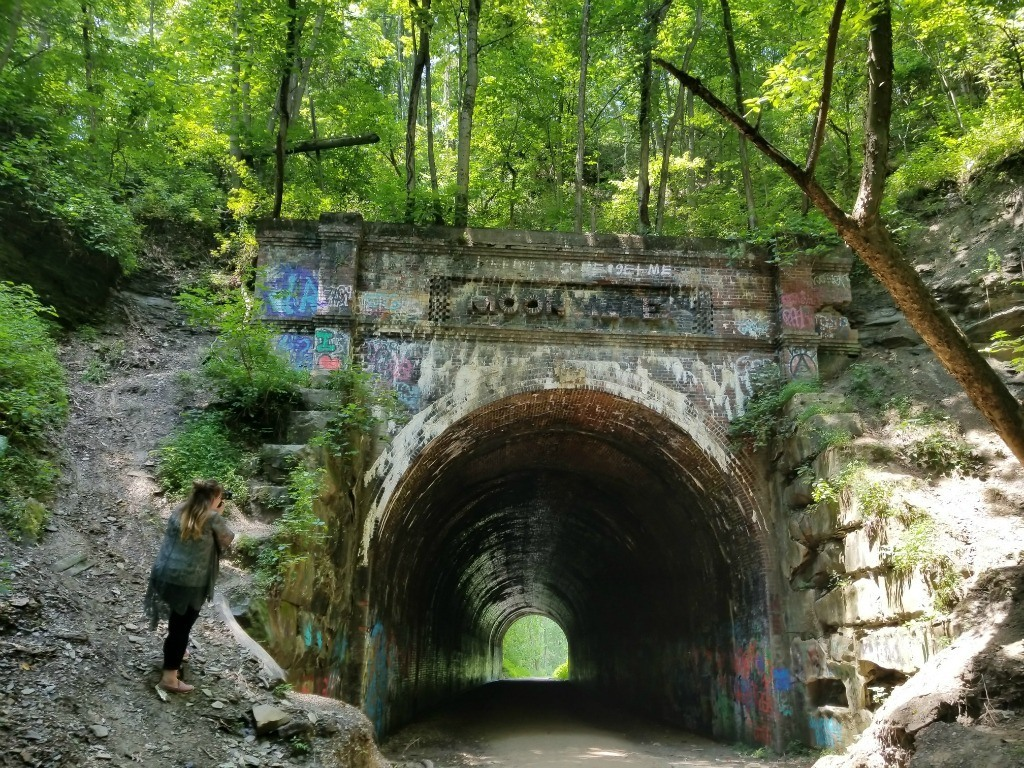 Taking Photos at Moonville Tunnel