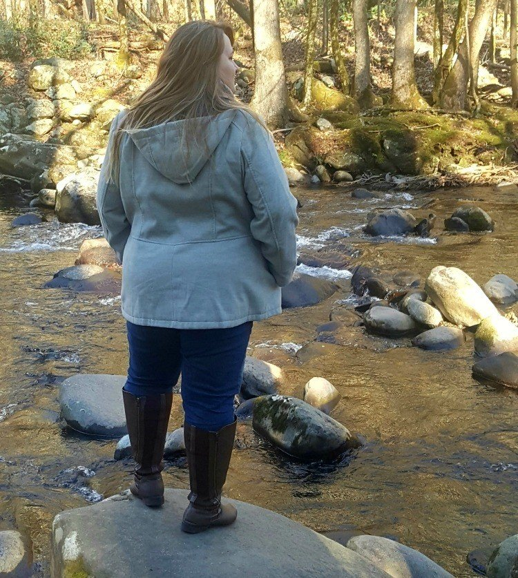 Taking a walk along the river in the Smokies