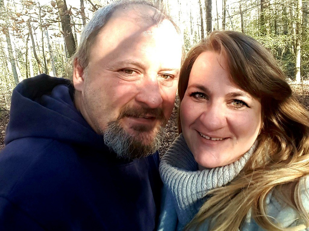 Me and the hubby in the Smokies.