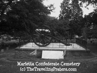 Marietta Confederate Cemetery cannon