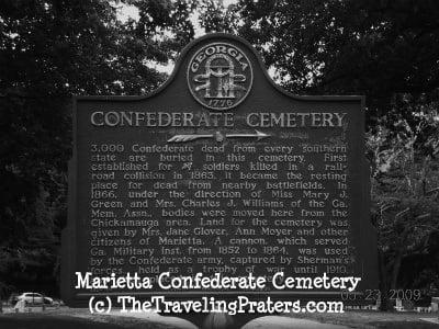 Marietta Confederate Cemetery Historical Marker