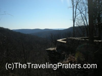 One of the overlooks at Monte Sano State Park in Huntsville, Alabama