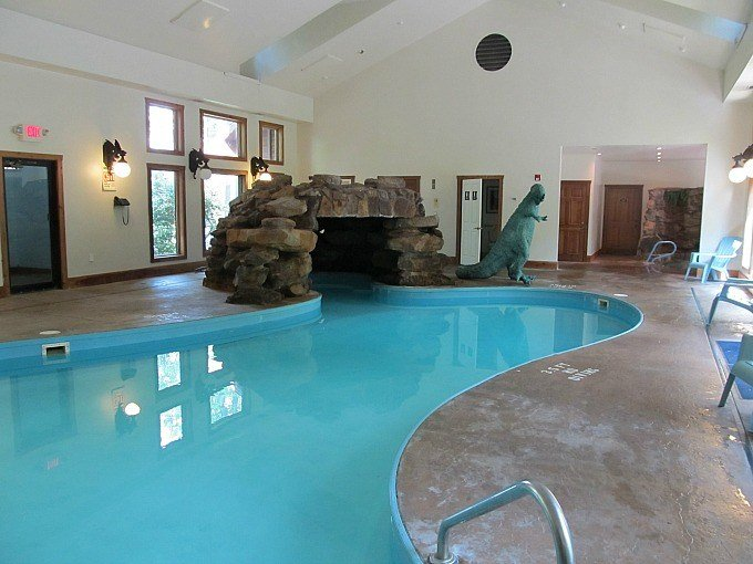 Pool at Landoll's Mohican Castle