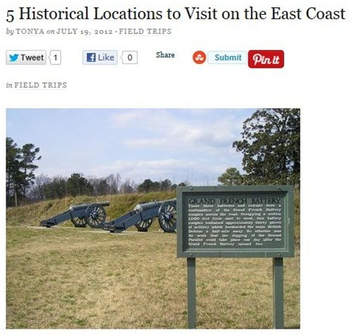 5 Historical Locations to Visit on the East Coast
