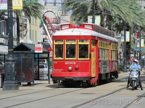 The streetcar along Canal Street