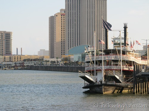 Along the Mississippi River in New Orleans