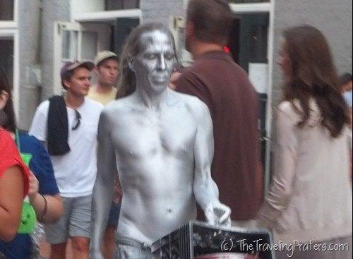 Street performers on Bourbon Street