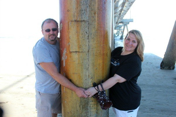 Me and my husband at Venice Beach