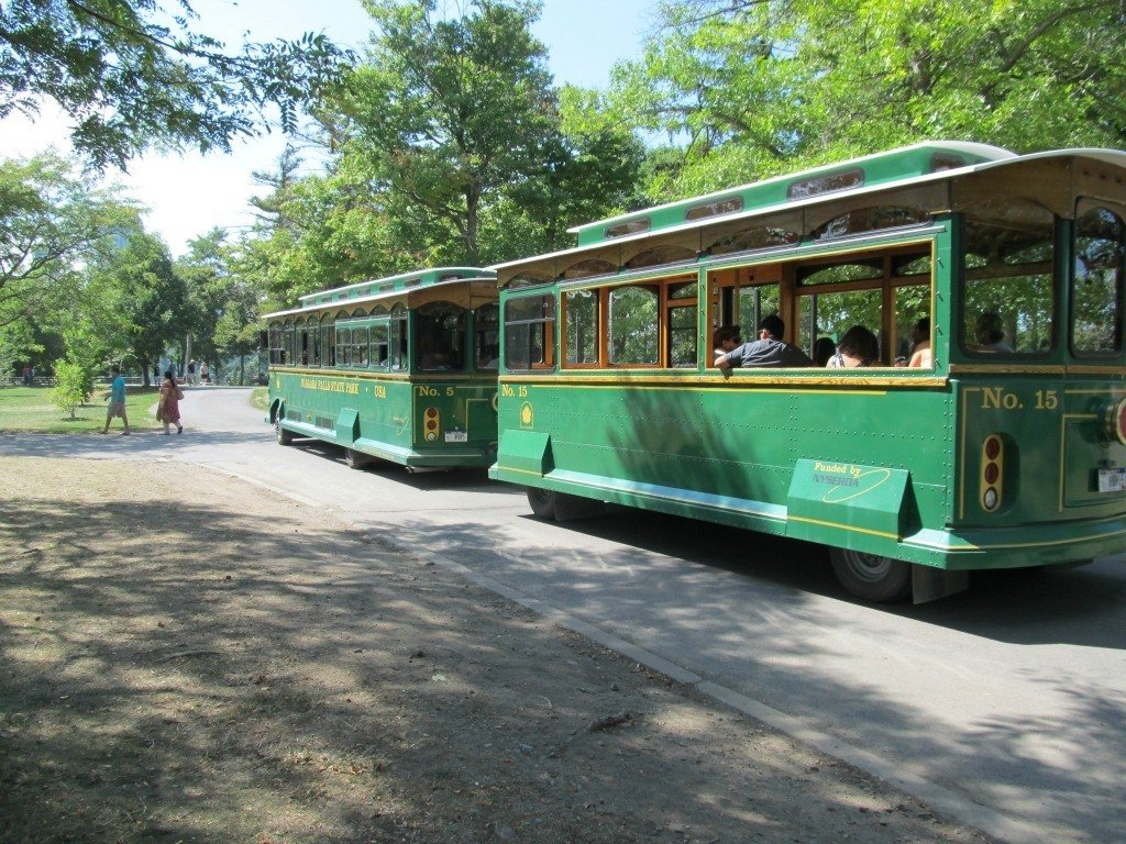 The Niagara Falls Trolley is a great way to get around the park