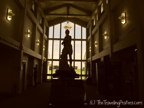Statue of Commodore Perry inside the Visitors Center at Perry's Victory and International Peace Memorial