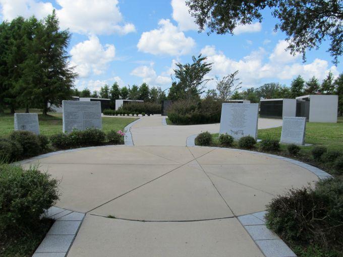 Stepping through the black wrought iron gates of the Katrina Memorial