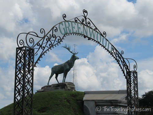Elk Statue at Greenwood Cemetery in New Orleans
