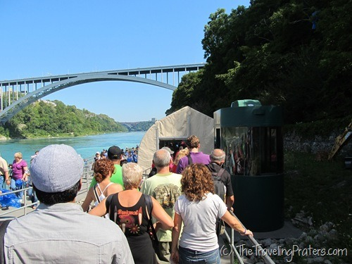 Getting in line at the Maid of the Mist
