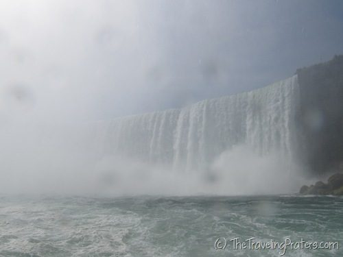 The Horseshoe Falls as seen from the Maid of the Mist