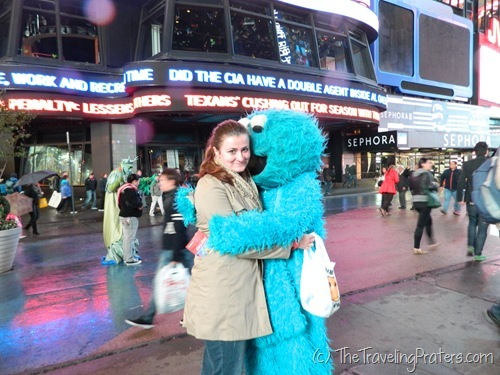 Cookie Monster in Times Square