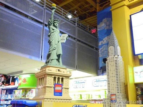 Lego Display in Toys R Us in Times Square