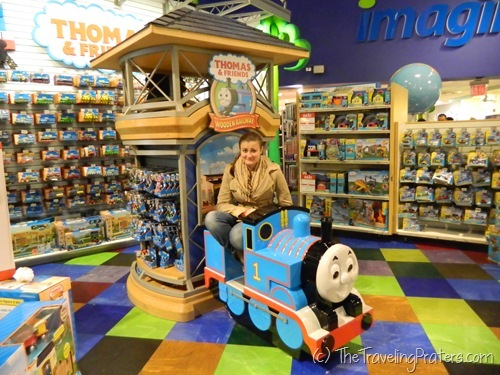 Thomas the Tank in Toys R Us in Times Square