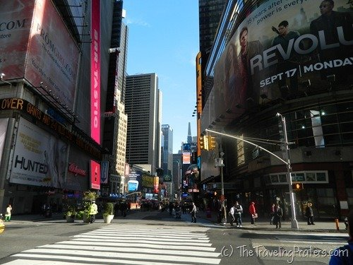 Times Square during the day