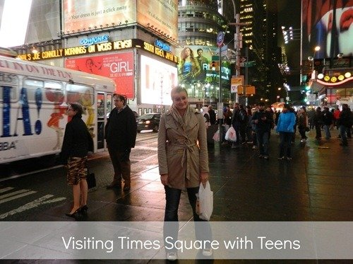 Visiting Times Square with Teens