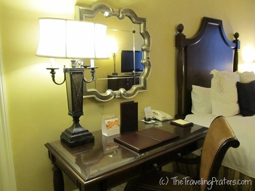 Desk in rooms at The Roosevelt in New Orleans