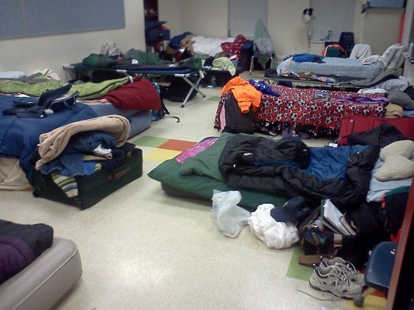 volunteer sleeping quarters
