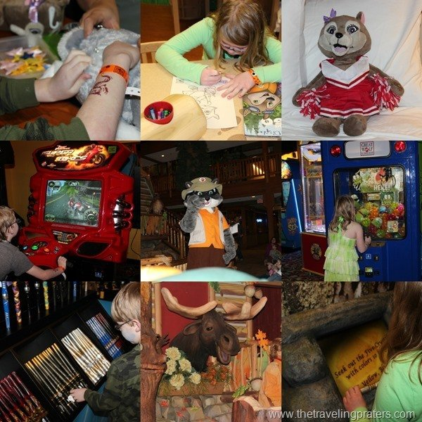 Activities at the Great Wolf Lodge