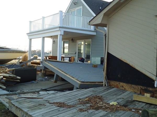 Hurrican damage in Toms River NJ