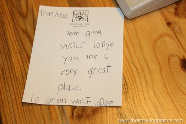 Dear Great Wolf Lodge