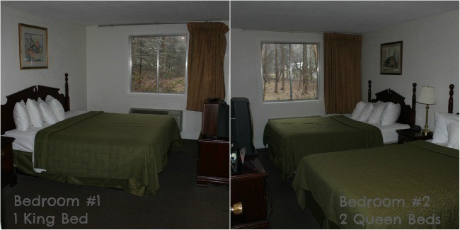 Bedrooms at Quality Inn Creekside in Gatlinburg