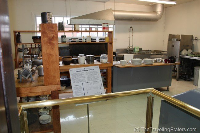 The original kitchen Inside the Harland Sanders Cafe and Museum in Corbin Kentucky