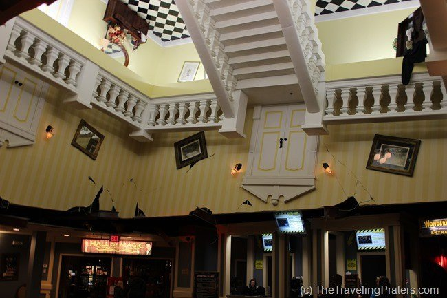 The lobby of WonderWorks in Pigeon Forge Tennessee