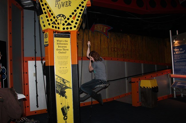 The Pulley Seat at WonderWorks