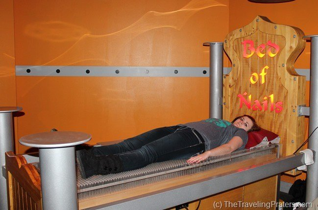 Bed of Nails at WonderWorks