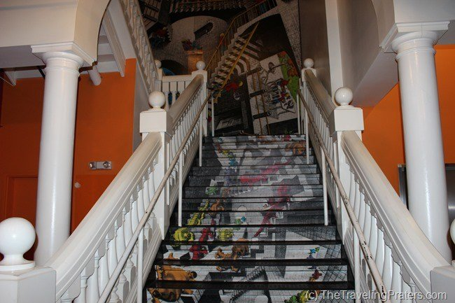 the stairs at WonderWorks