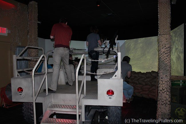 Army training simulator at WonderWorks in Pigeon Forge