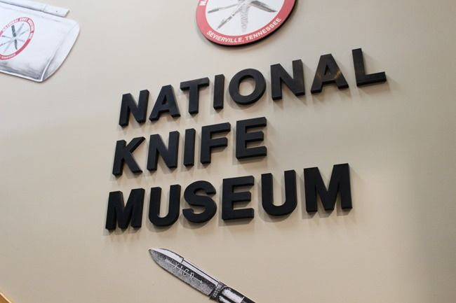National Knife Museum inside Smoky Mountain Knife Works, Inc.- Your Guide to Homeschool Friendly Spring Break Ideas in the Smokies via www.thetravelingpraters.com