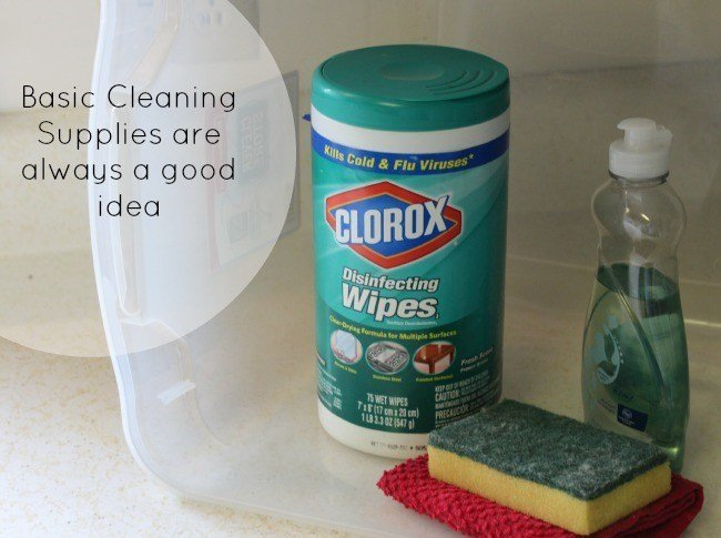 Basic Cleaning Supplies are always a good idea