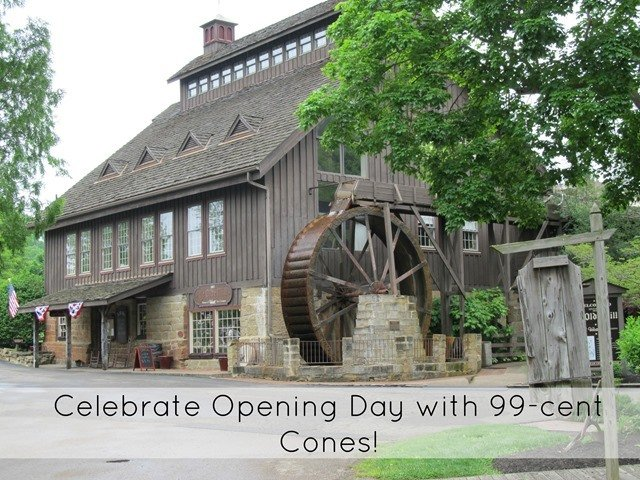 Celebrate the Opening of Velvet Ice Cream's Ye Olde Mill with 99-Cent Cones!