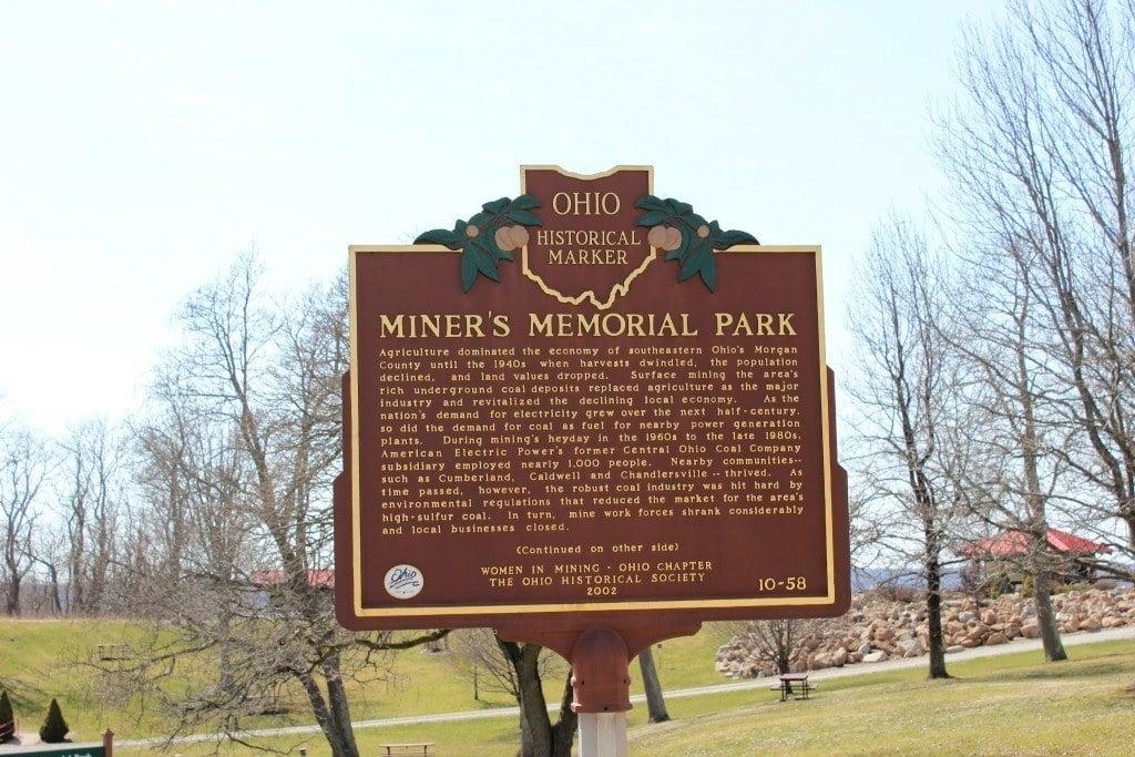 Miner's Memorial Park historical marker