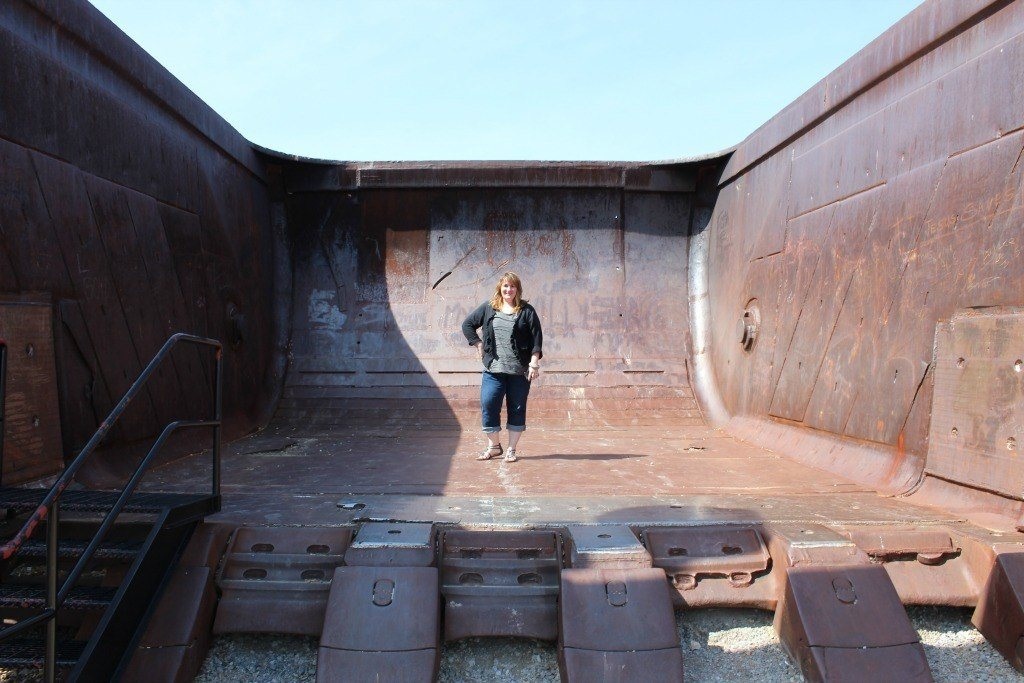 Standing inside the Big Muskie