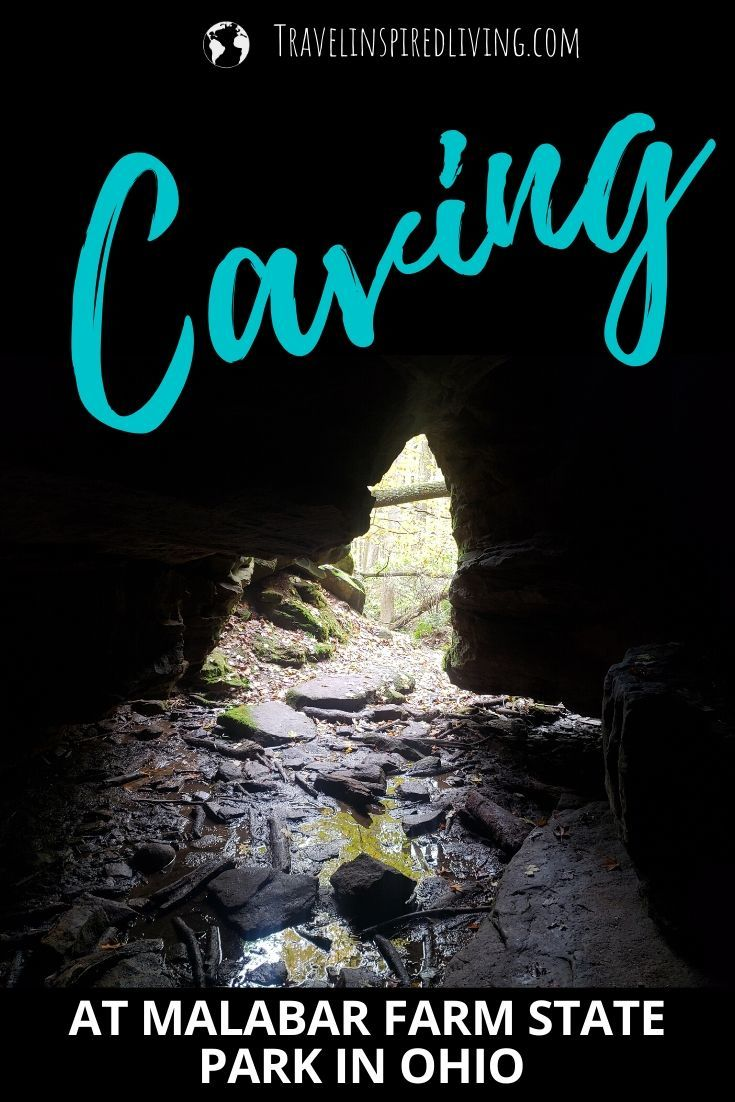 Inside the cave on the Butternut Trail at Malabar Farm State Park in Mansfield Ohio.