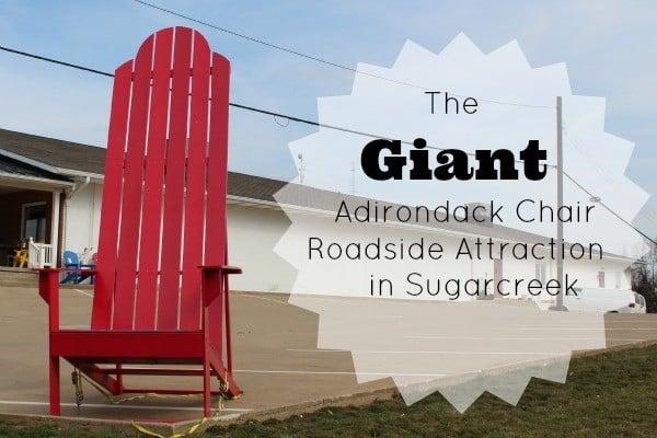 Giant Adironcack Chair roadside attraction in Sugarcreek