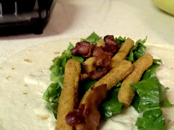 Bacon Chicken Ranch Wrap with Tyson Chicken Fries