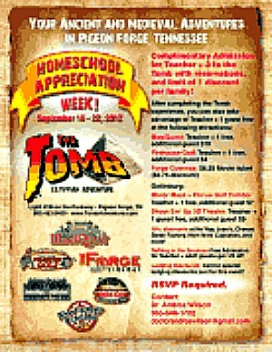 Homeschool Appreciation Week in the Smokies September 15th- 29th
