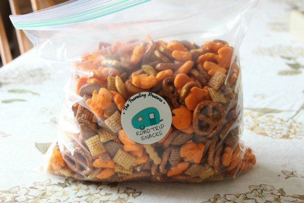 The Traveling Praters Road trip snack mix